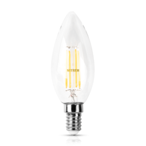 E14 LED Candle Filament 4W Warm White