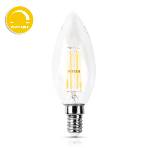 E14 LED Candle 4W Filament Warm White (Dimmable)